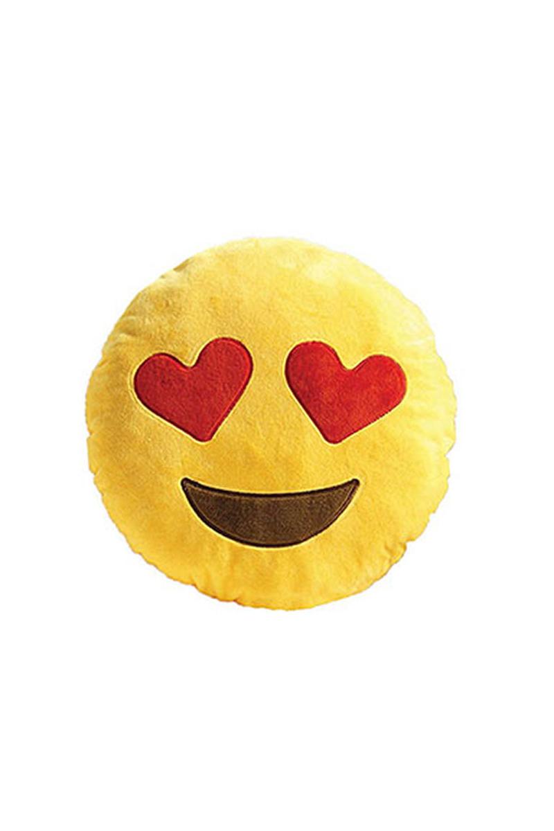 Kalpli Göz Emoji Yastık 35cm 1 Adet