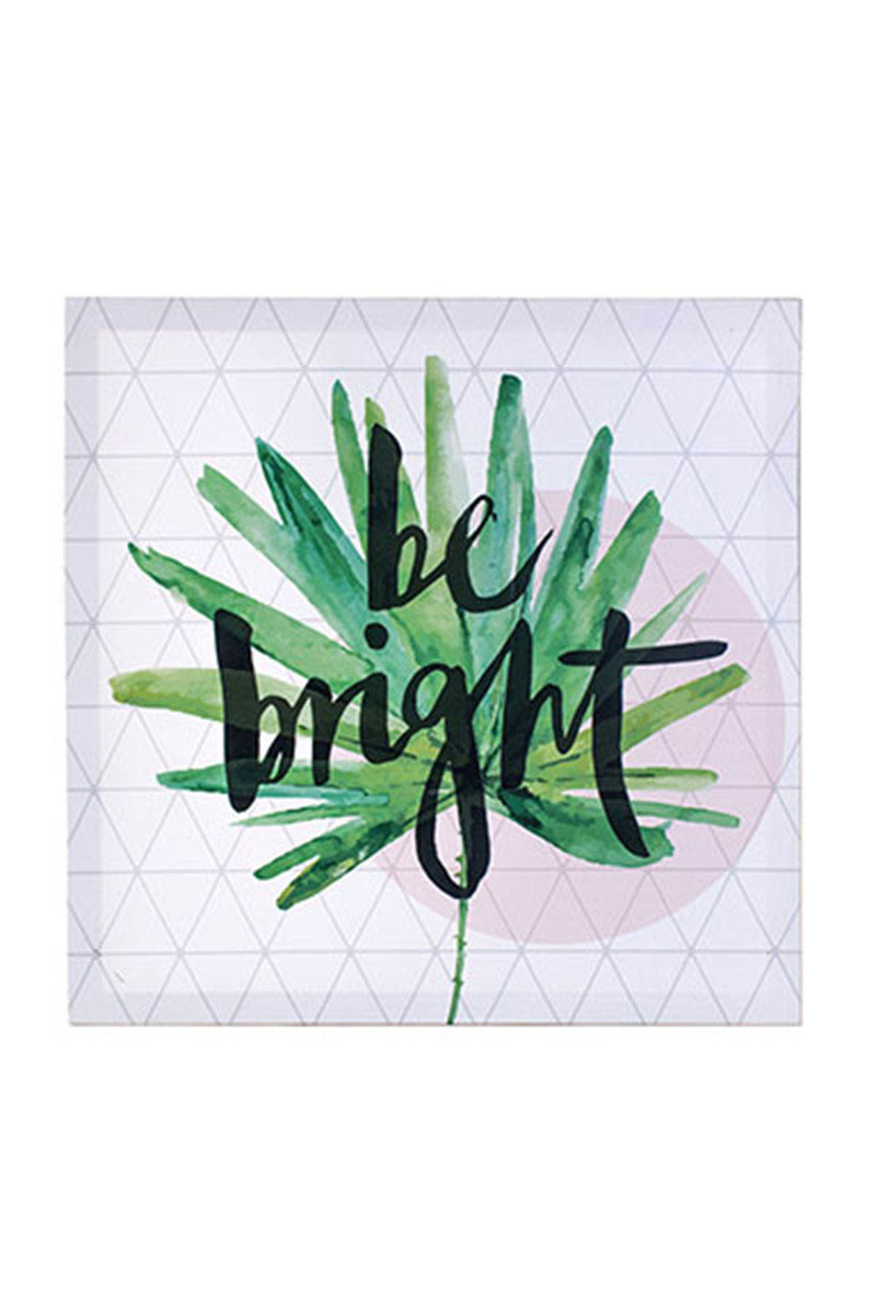 Kanvas Tablo Be Bright 40x40cm 1 Adet - Thumbnail