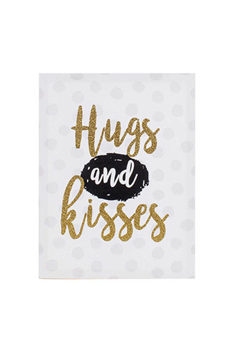 Kanvas Tablo Hugs and Kisses 30x40cm 1 Adet