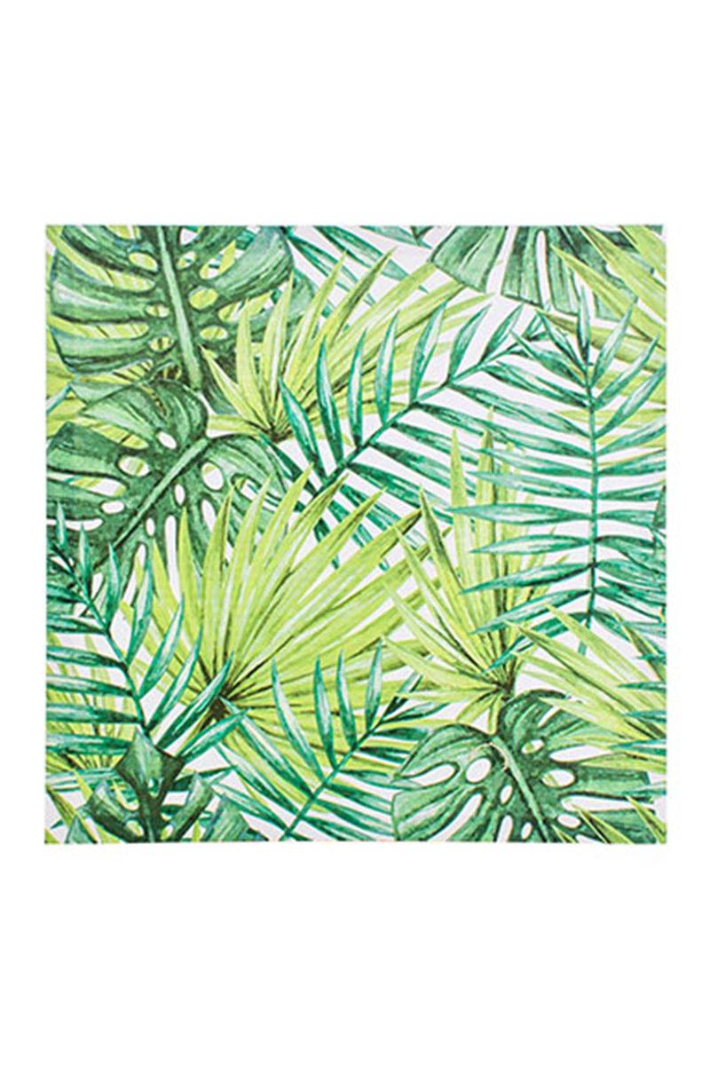 Kanvas Tablo Tropikal Yapraklar 40x40cm 1 Adet