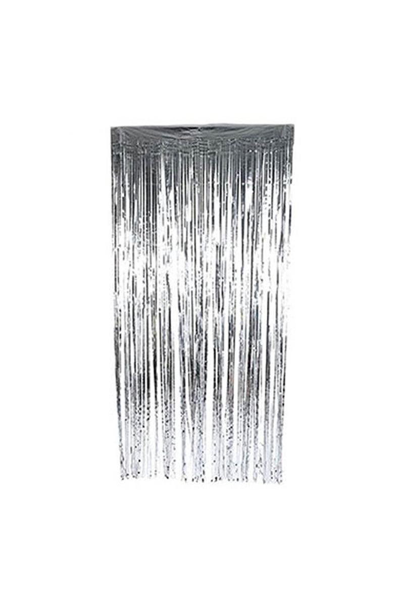 Kapı Perdesi Metalik Gümüş 1 Adet