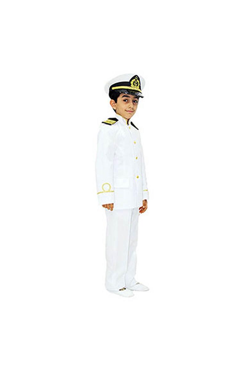 Kaptan Çocuk Kostümü 5-6 Yaş 1 Adet