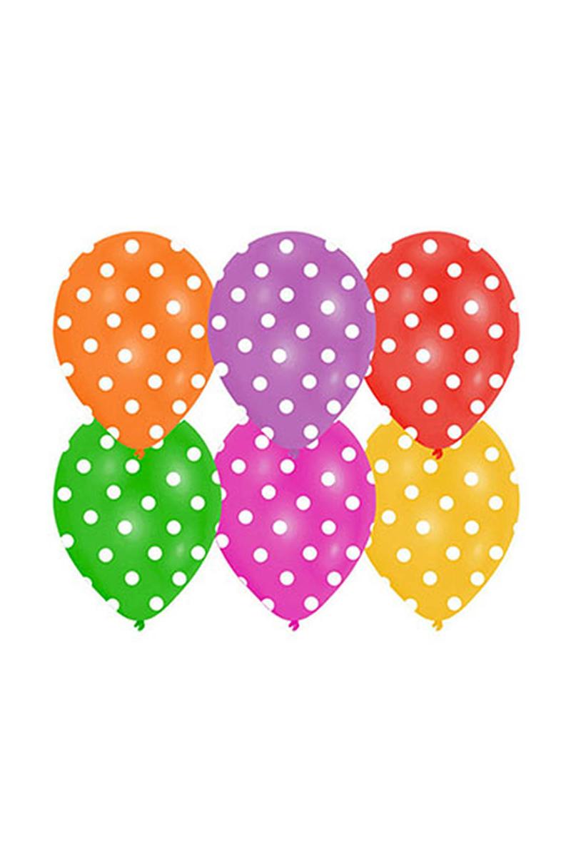 Karışık Mini Puantiyeli Balon 10lu