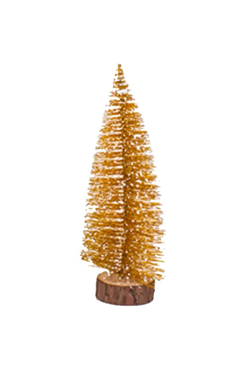 Karlı Altın Çam Ağacı Dekor Süs 40cm 1 Adet