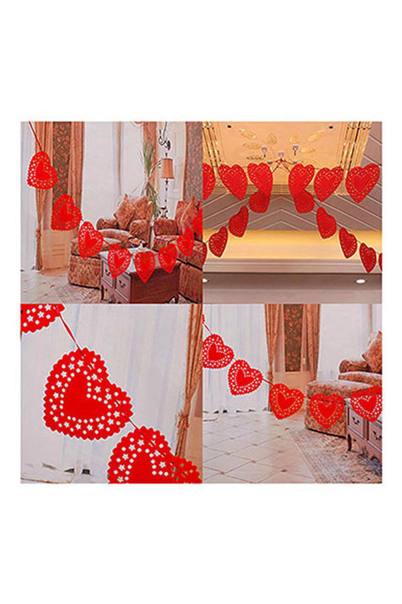 Keçe Kalpler Asma İp Süs 265cm 1 Adet - Thumbnail