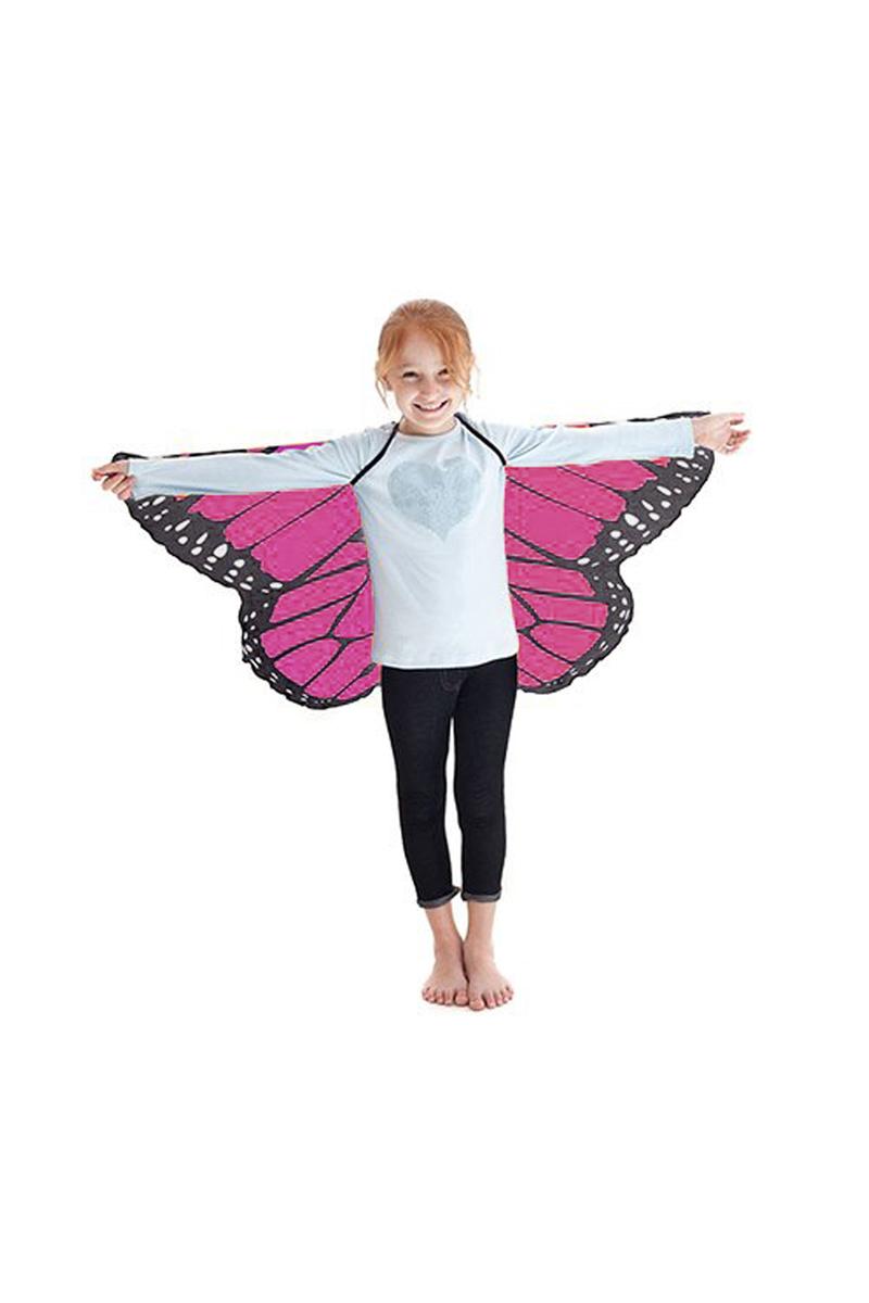 Kelebek Kanadı Fuşya Pelerin 118x48cm 1 Adet (4-12 Yaş)