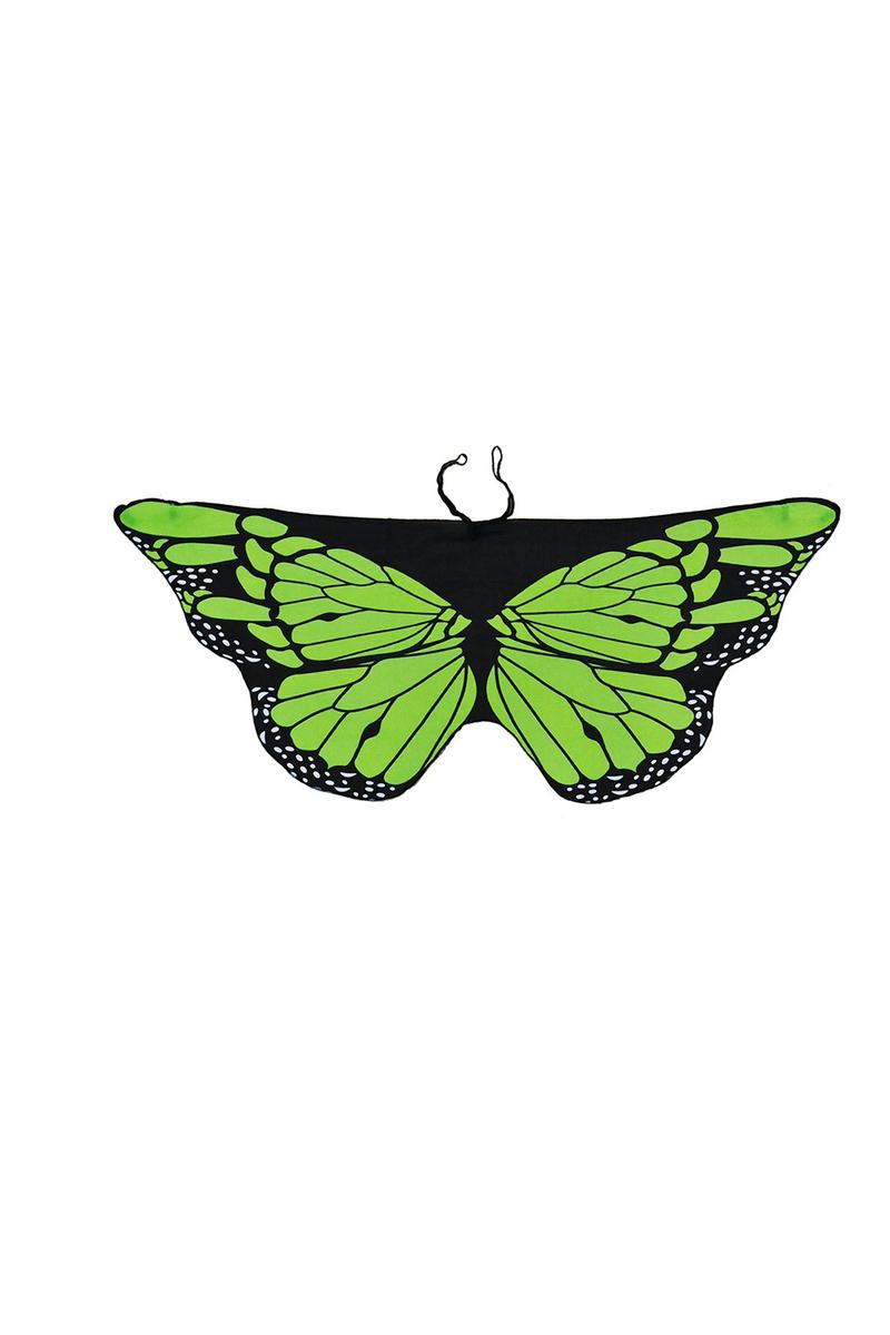 Kelebek Kanadı Yeşil Pelerin 118x48cm 1 Adet (4-12 Yaş) - Thumbnail