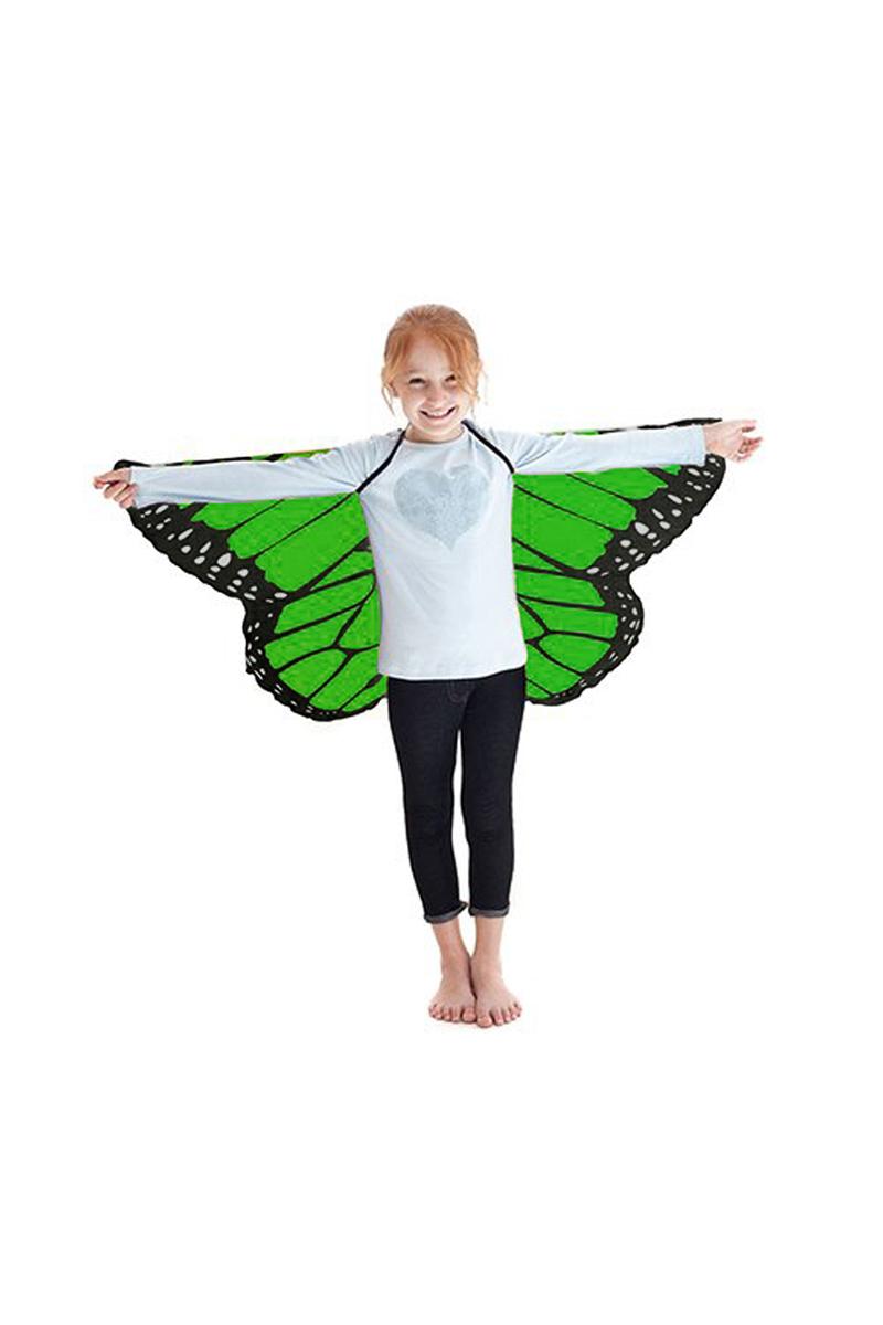 Kelebek Kanadı Yeşil Pelerin 118x48cm 1 Adet (4-12 Yaş)