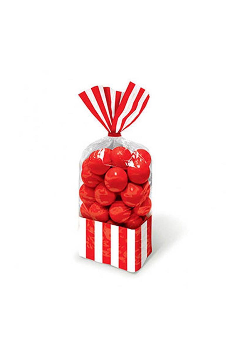 Kırmızı Çizgili Şeker Poşeti 10lu