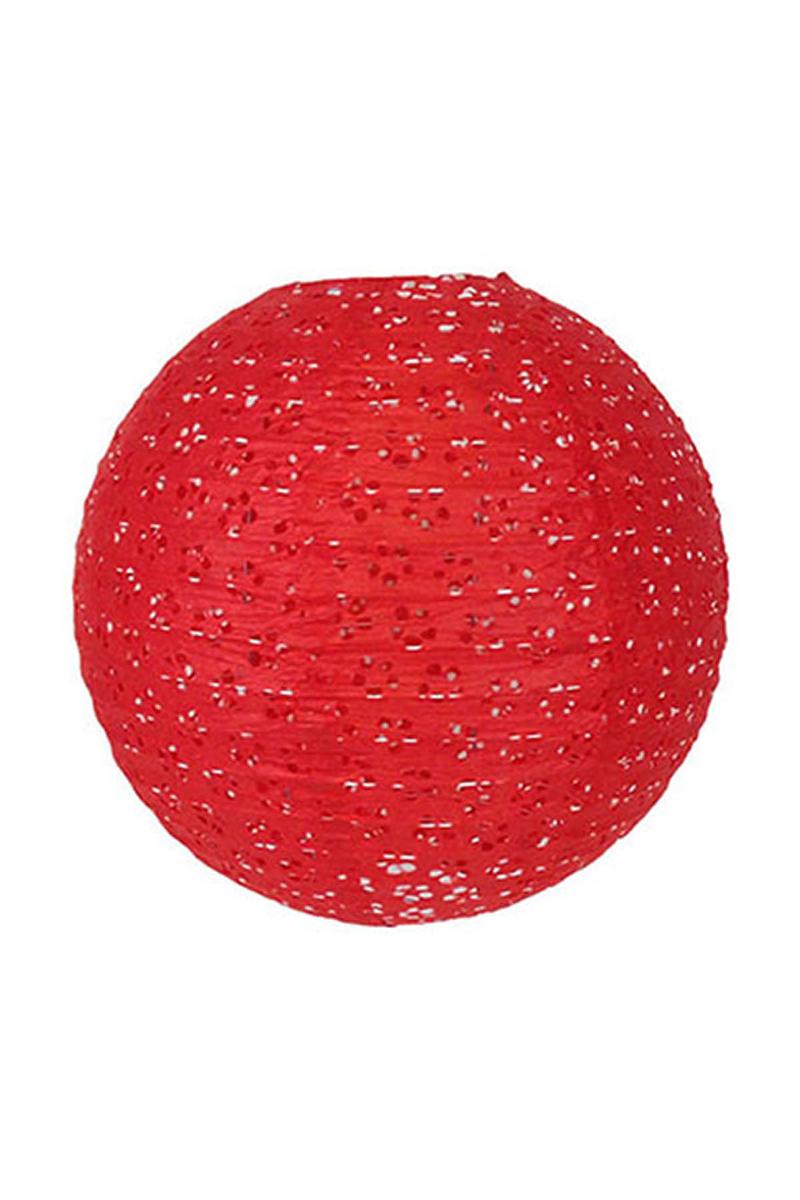Kırmızı Dantel Fener 30cm 1 Adet