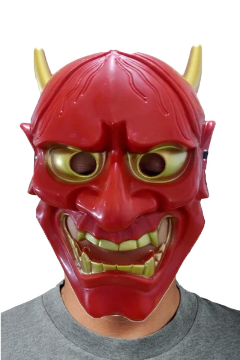 Kırmızı Devil Şeytan Maske 1 Adet - Thumbnail