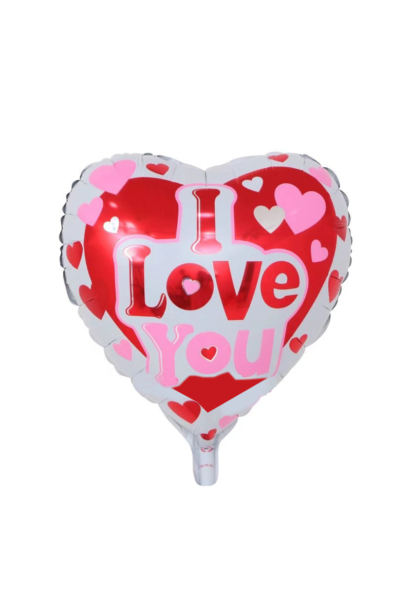 Kırmızı I Love You Kalp Folyo Balon 1 Adet