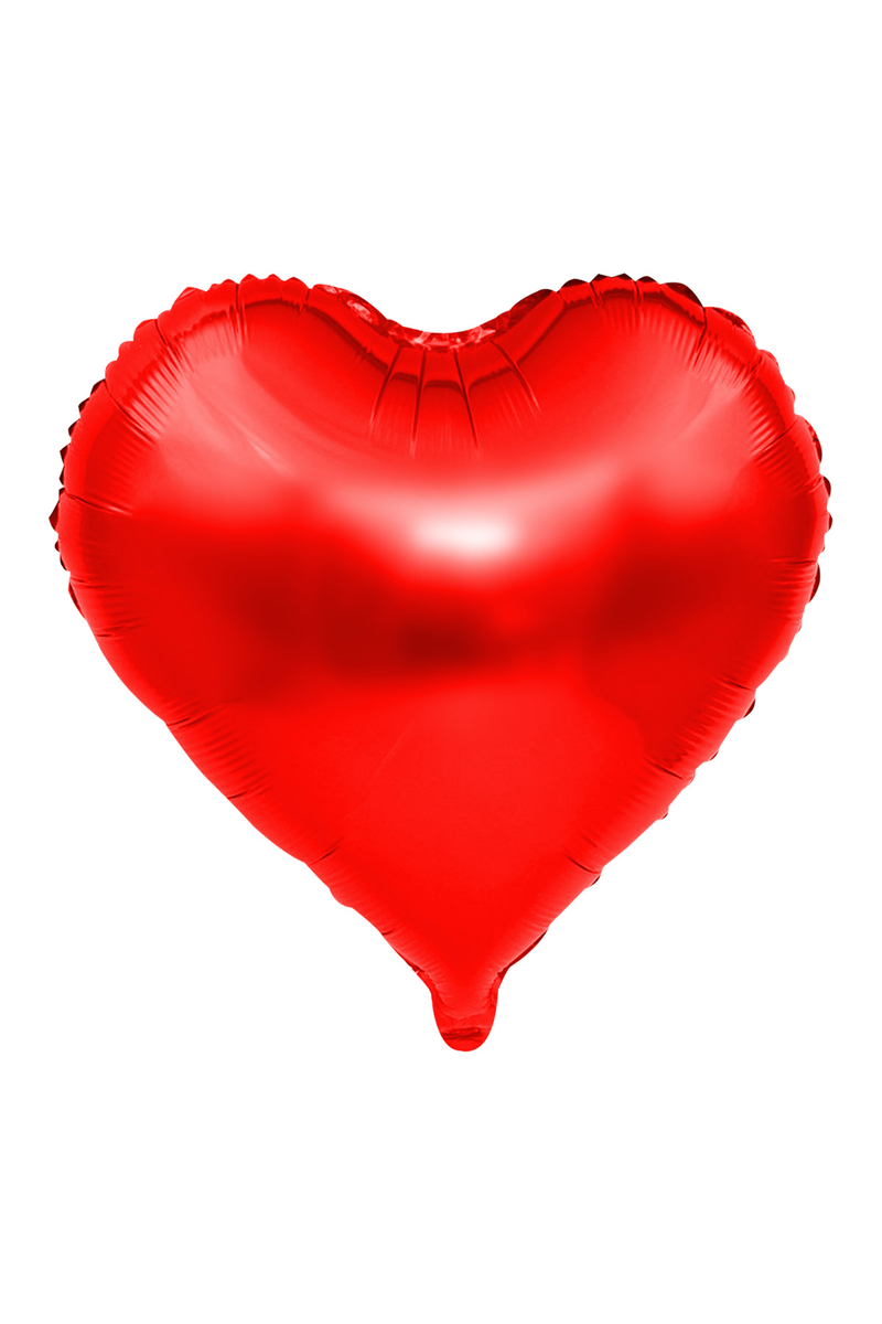 Kalp Folyo Balon 60cm (22 inch) Kırmızı 1 Adet
