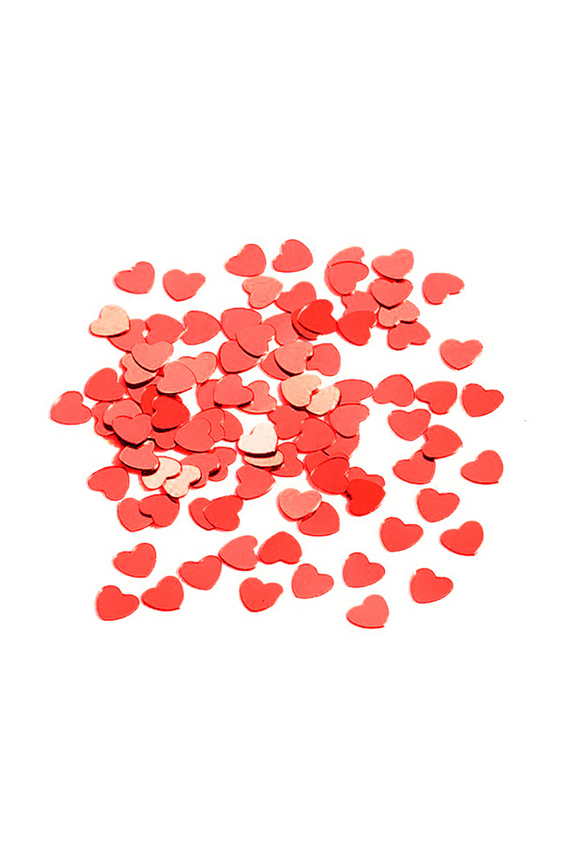 Kırmızı Kalp Masa Konfeti 15gr