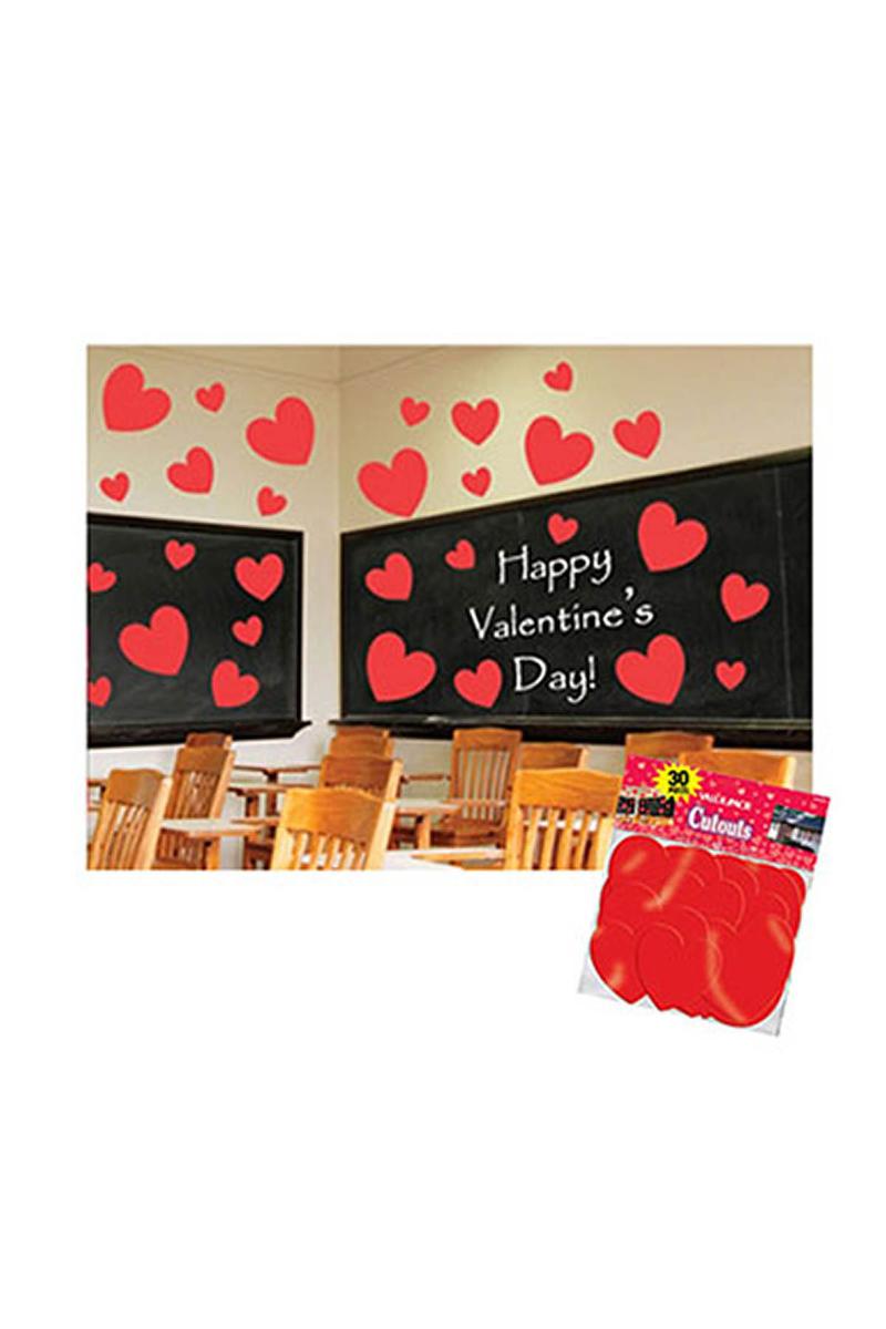 Kırmızı Kalp Sticker 30lu