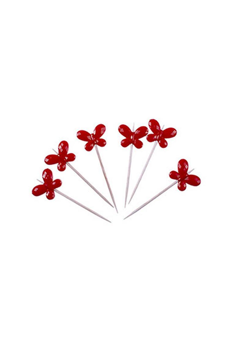 Kelebek Kürdan Kırmızı 6lı