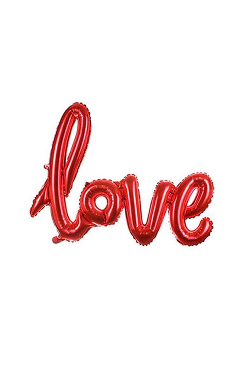 Kırmızı Love İmza Folyo Balon 60x80cm 1 Adet