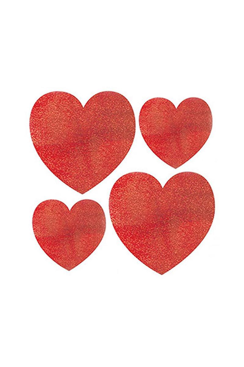 Kırmızı Kalp Sticker 10 lu