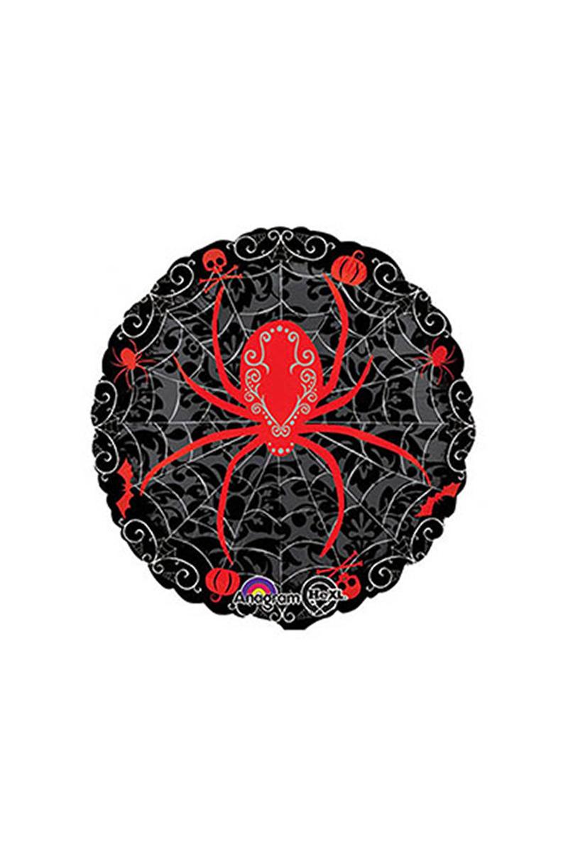 Kırmızı Örümcek Siyah Folyo Balon 40cm 1 Adet