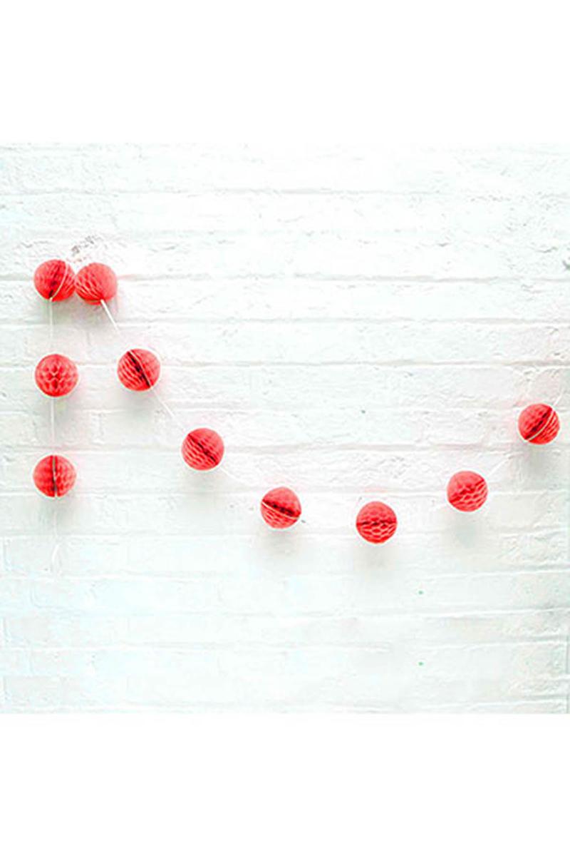 Kırmızı Petek Uzar Süs 8li