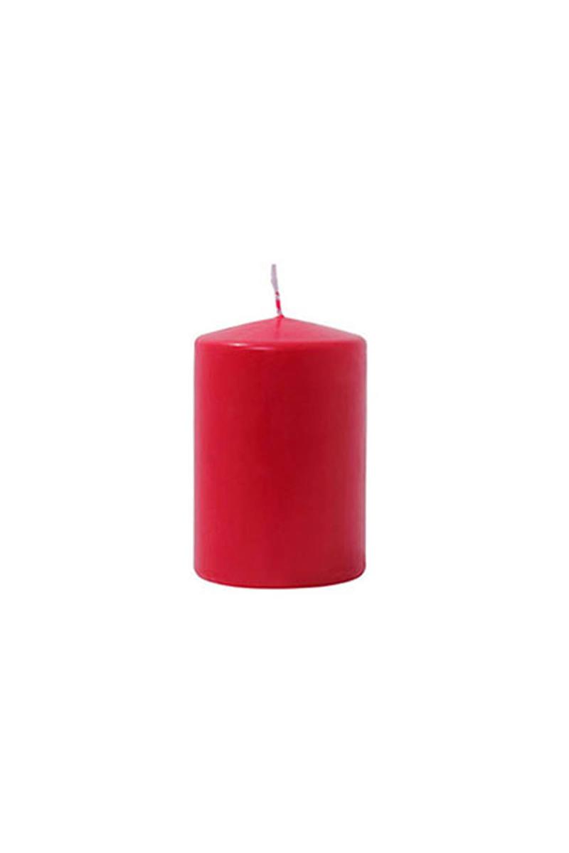Kırmızı Silindir Mum 7x12cm 1 Adet