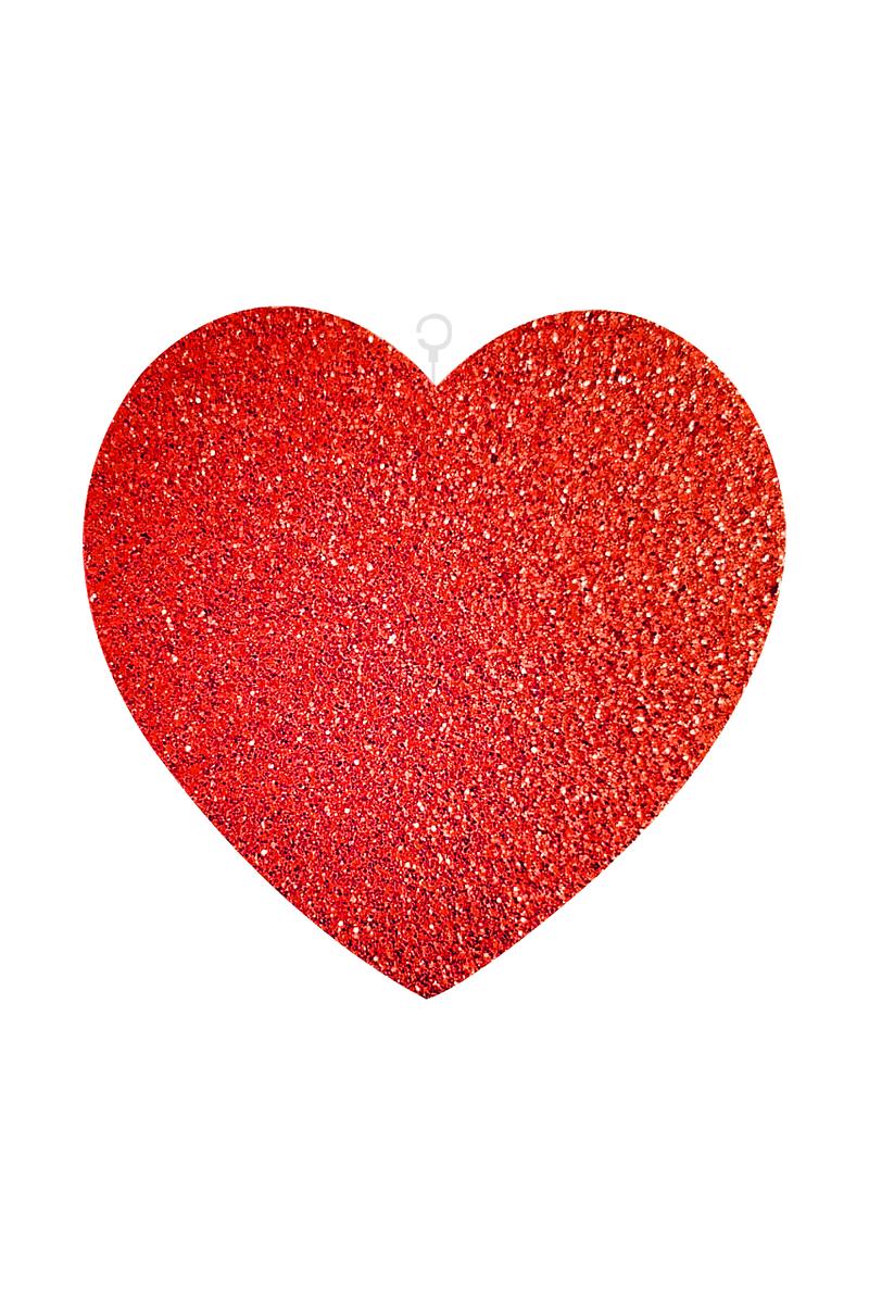 Kırmızı Simli Kalp Strafor Dekor Süs 25cm 1 Adet