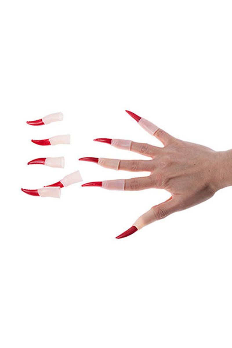 Kırmızı Takma Cadı Tırnağı 10lu