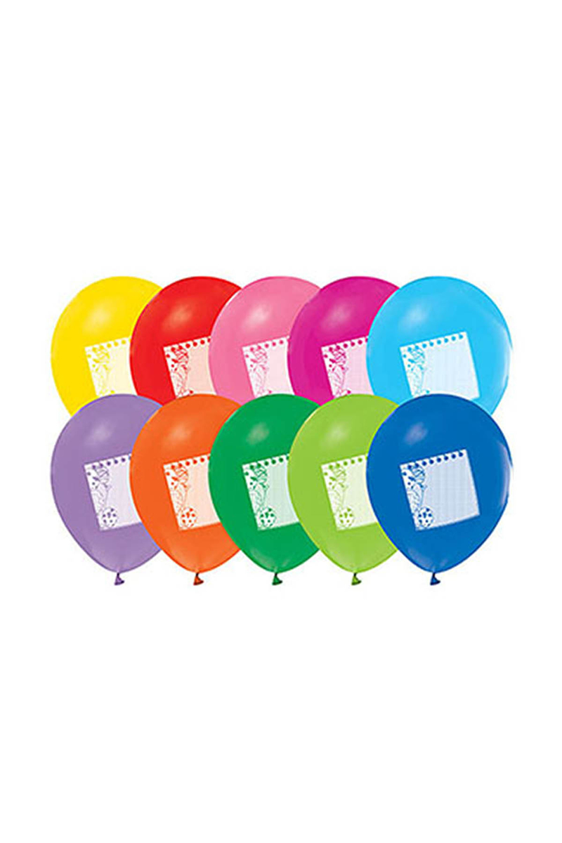 Kişiye Özel Not Kağıdı Baskılı Renkli Balon 10lu
