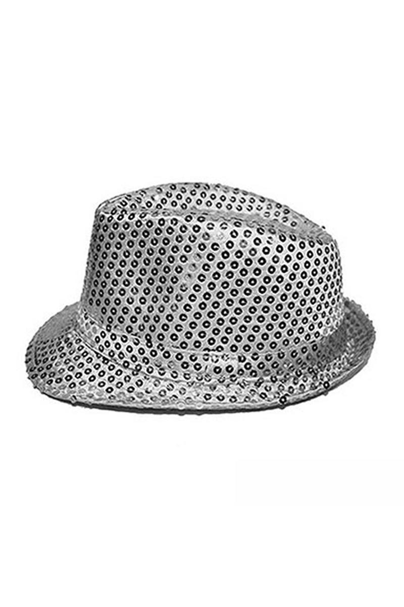 Gümüş Payetli Fötr Şapka 1 Adet