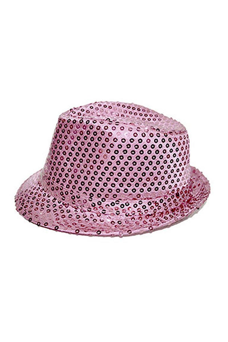 Pembe Payetli Fötr Şapka 1 Adet