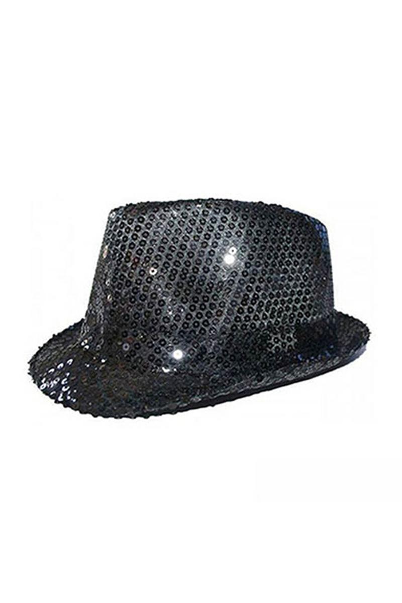 Siyah Payetli Fötr Şapka 1 Adet