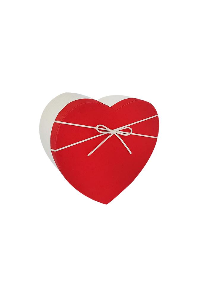 Krem Kurdeleli Kalp Hediye Kutusu 19 x 18 x 8cm 1 Adet - Thumbnail