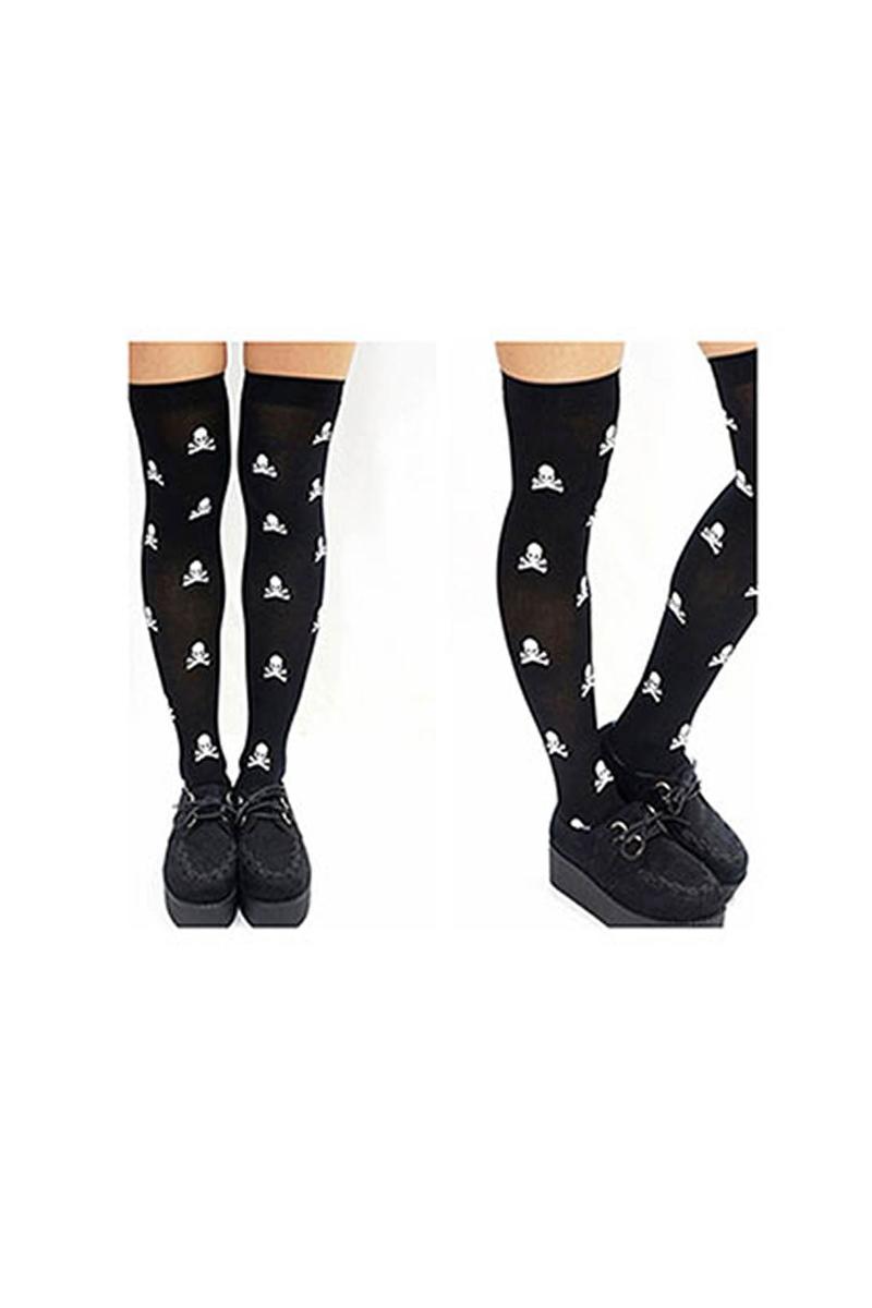 KuruKafa Desenli Yetişkin Çorabı 1 Çift