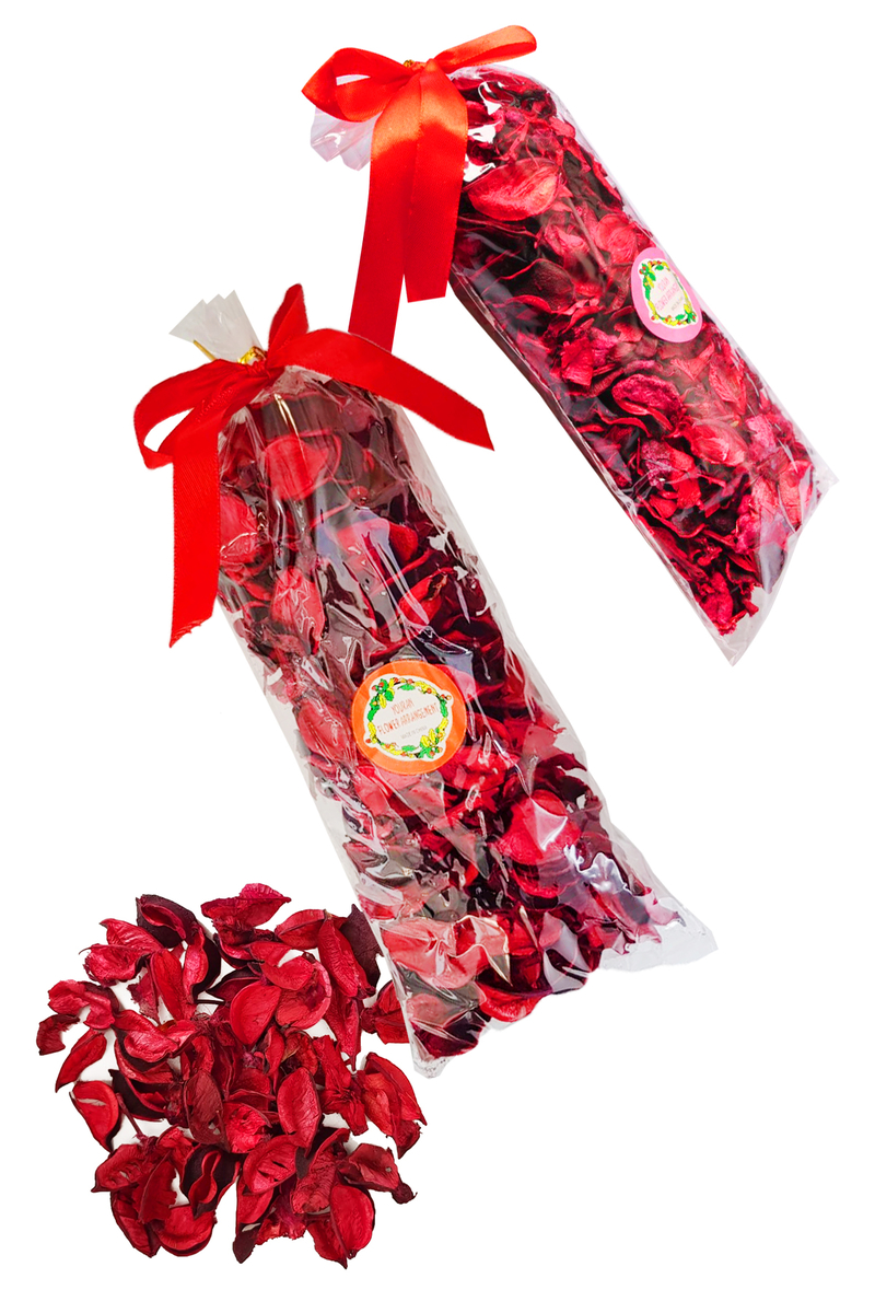 Kurutulmuş Kırmızı Dökme Gül Yaprağı 85gr - Thumbnail