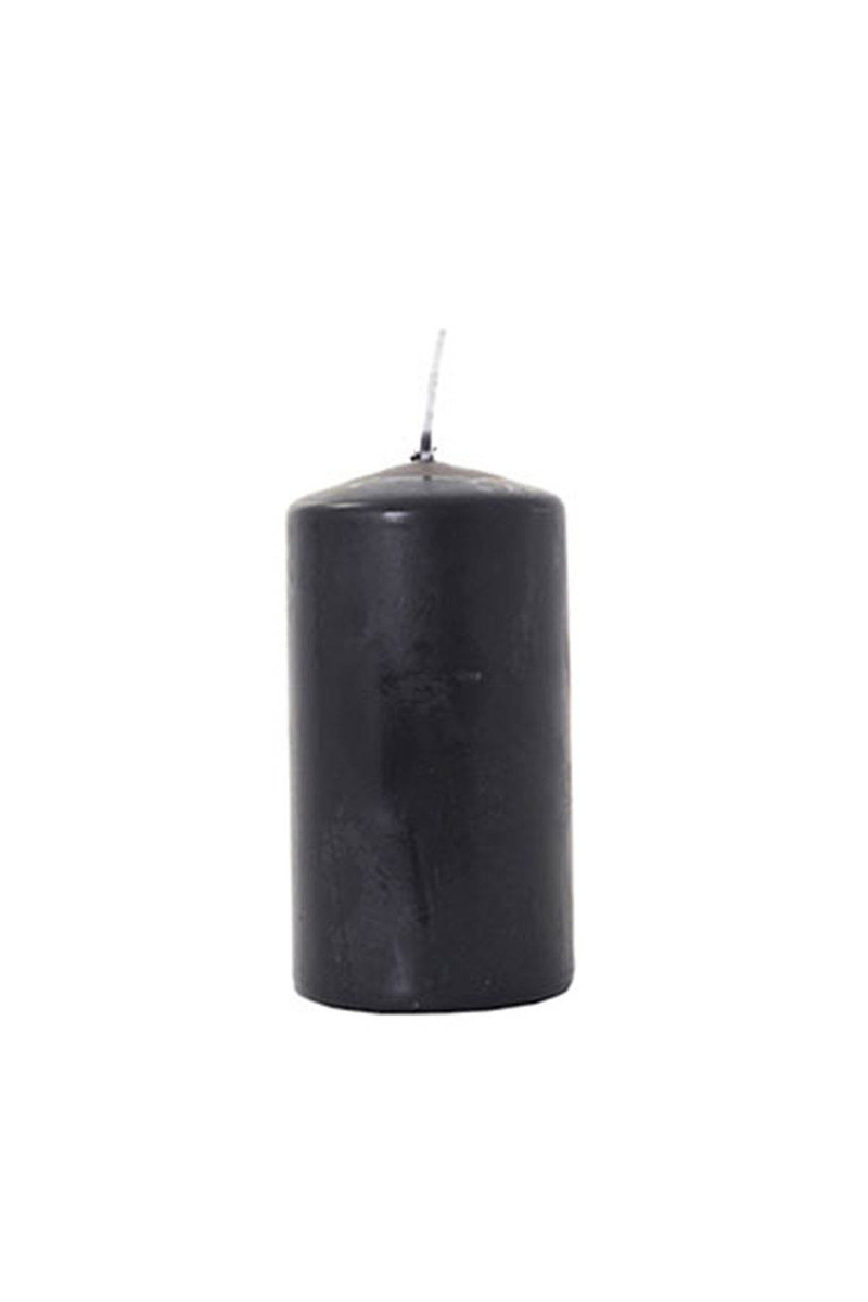 Kütük Mum Siyah 6cm x 10cm 1 Adet