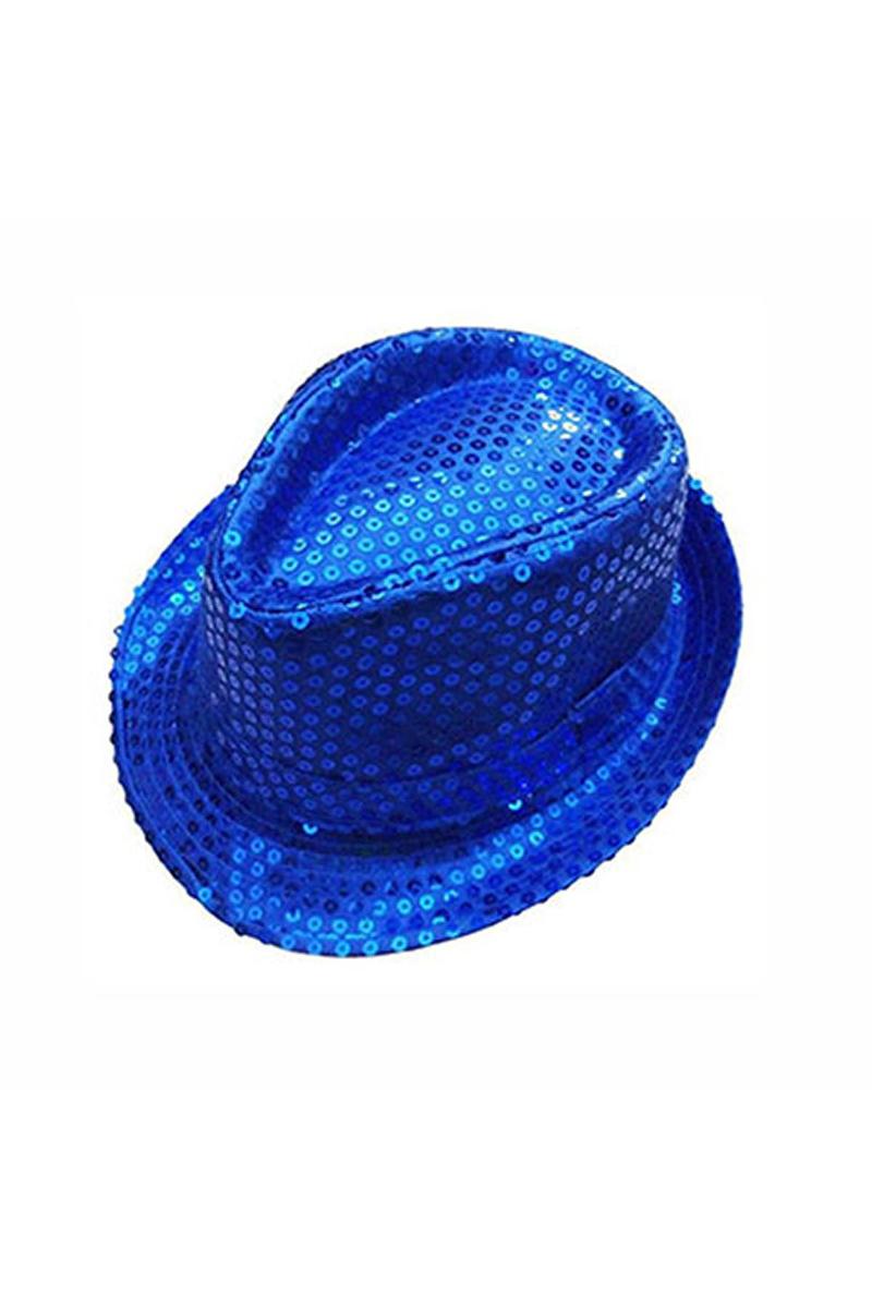 Lacivert Payetli Fötr Şapka 1 Adet