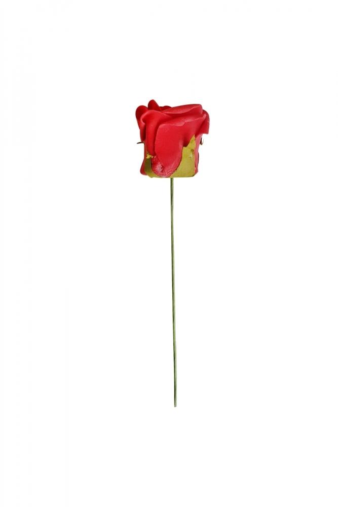 Plastik Kırmızı Gül 25cm 1 Adet - Thumbnail