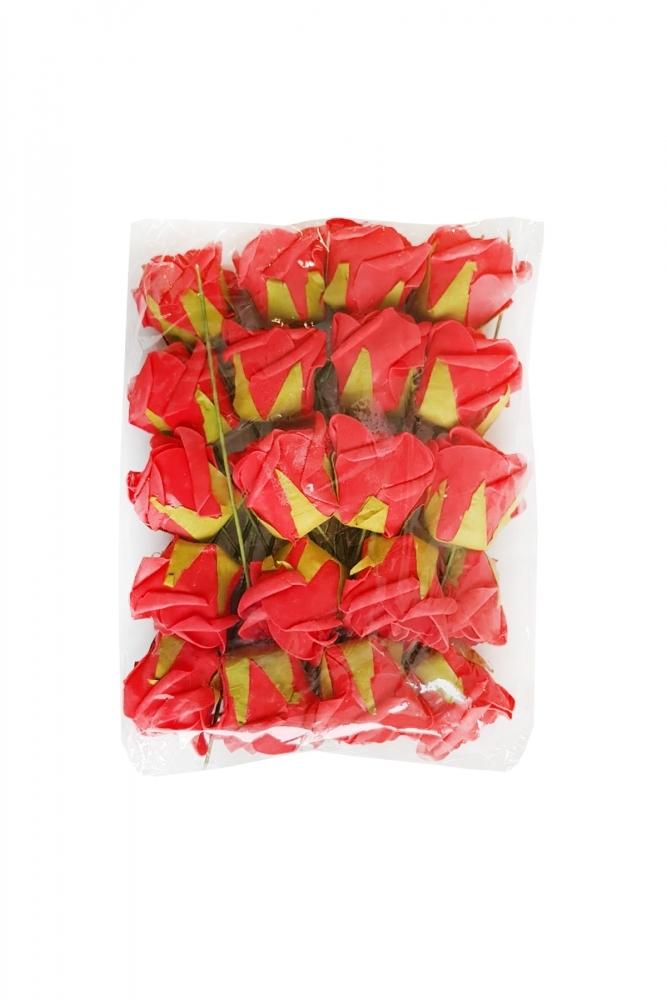 Plastik Kırmızı Gül 25cm 1 Adet