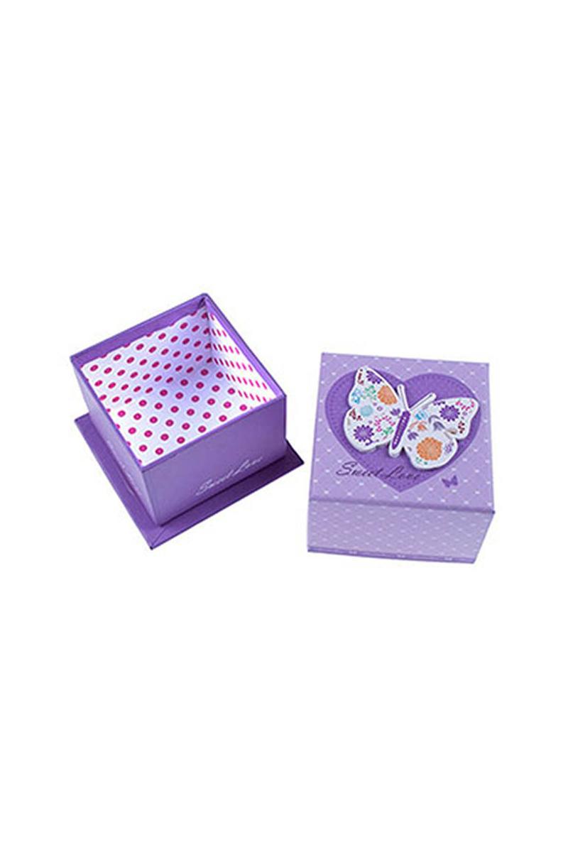 Lila Kelebek Hediye Kutusu 1 Adet - Thumbnail