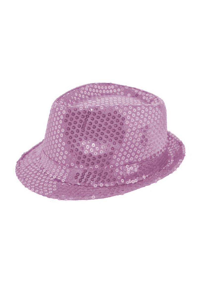 Lila Payetli Fötr Şapka 1 Adet