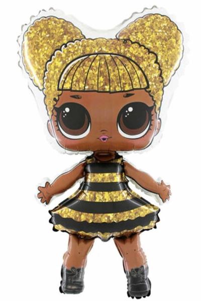 LOL Bebek Queen Bee Şekilli Folyo Balon 90cm 1 Adet