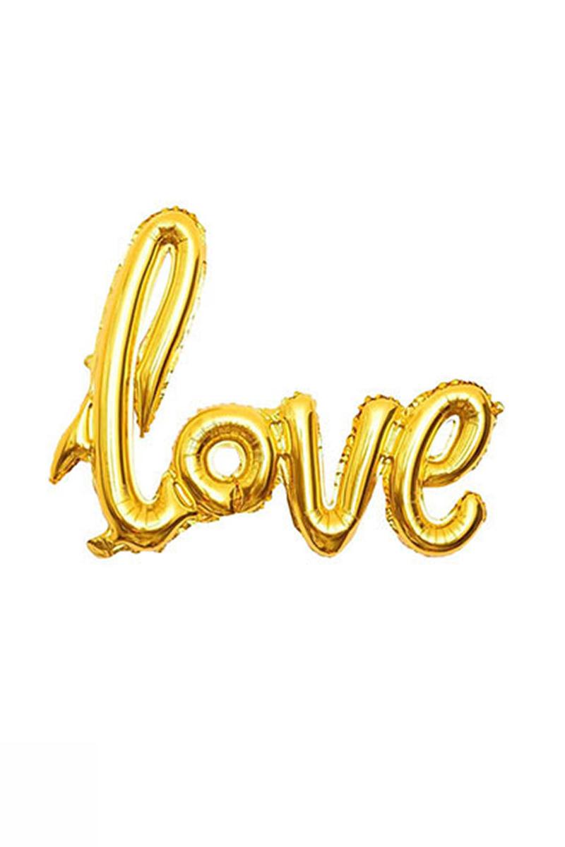 Love İmza Folyo Balon 60cm x 80cm Altın 1 Adet