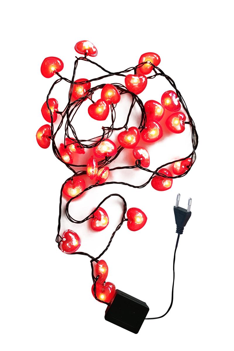Love Yazılı Hologramlı Kalp Led Işık Fonksiyonlu 3m 28 Ampül 1 Adet