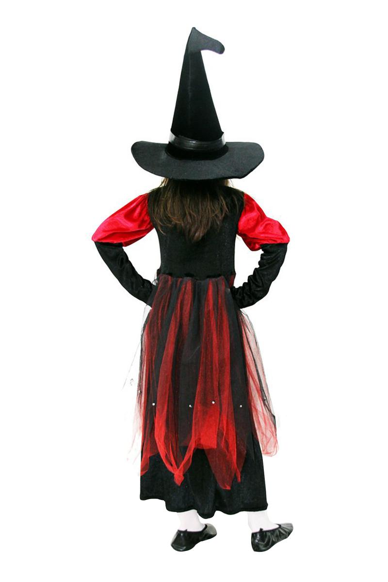 Lüks Cadı Çocuk Kostümü 5-6 Yaş 1 Adet
