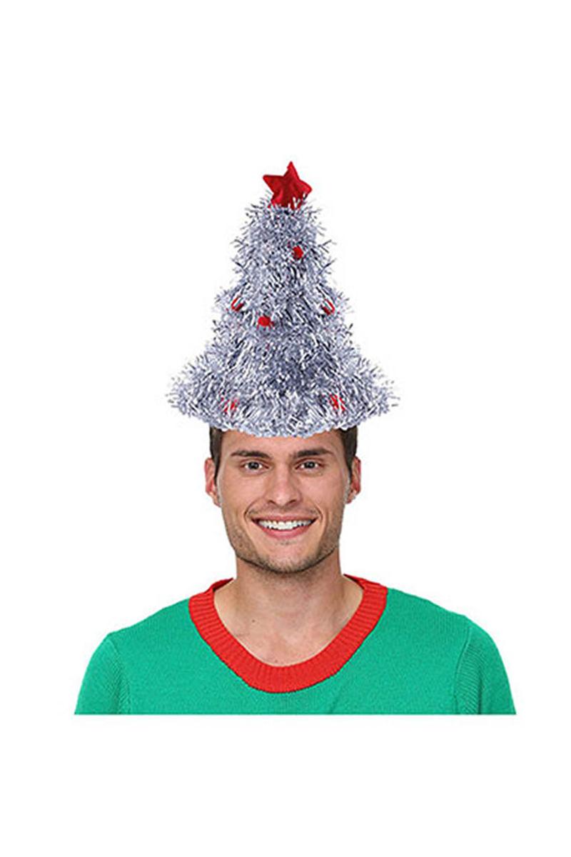 Lüks Gümüş Metalize Yılbaşı Şapkası 1 Adet