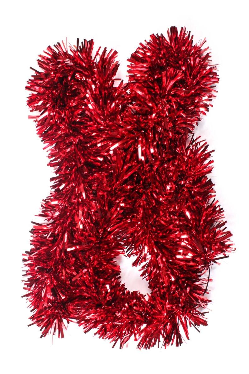 Lüks Kırmızı Kalın Boyun Simi 10cm x 2m 1 Adet - Thumbnail