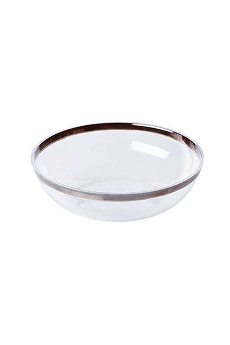 Lüks Plastik Salata Kasesi Şeffaf 27 x 10cm 2li