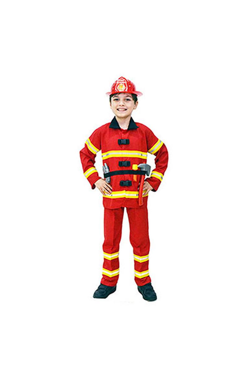 İtfaiye Partisi Çocuk Kostümü 3-4 Yaş 1 Adet - Thumbnail