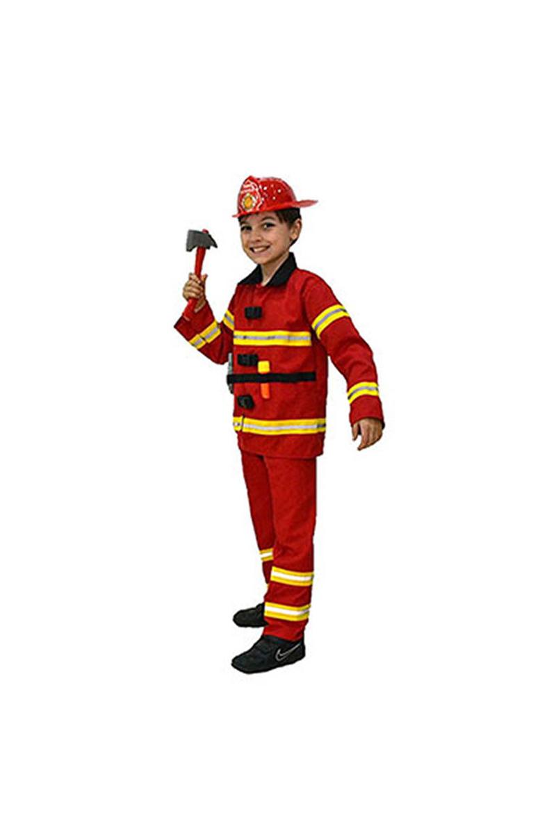 İtfaiye Partisi Çocuk Kostümü 7-8 Yaş 1 Adet - Thumbnail