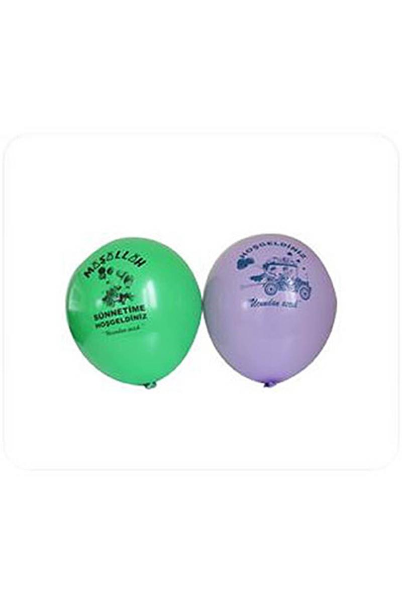 Maşallah Baskılı Sünnet Balon 10lu
